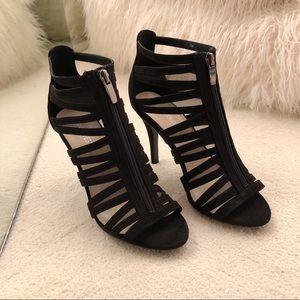 Aldo Black Mesh Strap Heels